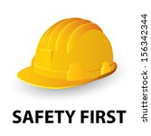 yellow safety hard hat. vector... | Shutterstock .eps vector #156342344