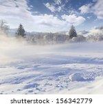 Beautiful Winter Landscape Mountain Village - Fine Art prints