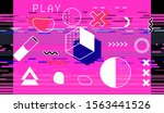 trendy background with glitched ...   Shutterstock .eps vector #1563441526