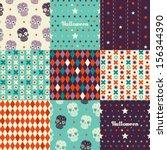 nine seamless pattern.... | Shutterstock .eps vector #156344390