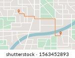 city map navigation route.... | Shutterstock .eps vector #1563452893