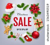 sale xmas banner with... | Shutterstock .eps vector #1563490519