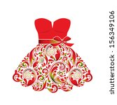 beautiful dress  made of the... | Shutterstock .eps vector #156349106