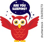 owl at night | Shutterstock .eps vector #156350273