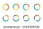 infographic pie chart set.... | Shutterstock .eps vector #1563509230