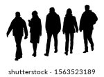 vector silhouettes of  men and... | Shutterstock .eps vector #1563523189