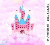 cartoon color castle princess... | Shutterstock .eps vector #1563523369