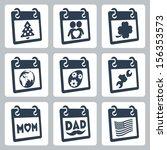 Vector Calendar Icons...
