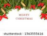 white christmas blank with... | Shutterstock . vector #1563555616