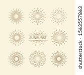 Sunburst Set Gold Style...