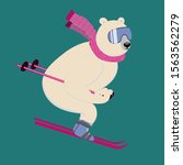 Polar Bear On An Alpine Ski...