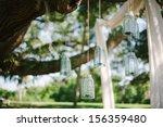 flowers  lanterns  cloth... | Shutterstock . vector #156359480