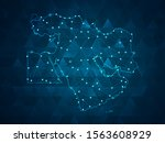 abstract mash line and point... | Shutterstock .eps vector #1563608929