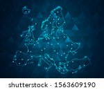 map of europe point scales on... | Shutterstock .eps vector #1563609190
