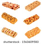 set of muesli bars. collection... | Shutterstock .eps vector #1563609583