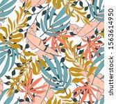 original seamless tropical... | Shutterstock .eps vector #1563614950