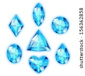set of colored gems isolated on ... | Shutterstock .eps vector #156362858