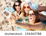 summer holidays  vacation and... | Shutterstock . vector #156363788