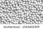 lot of soft white balls. pile... | Shutterstock .eps vector #1563642349