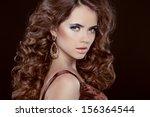 beauty portrait. hairstyle.... | Shutterstock . vector #156364544