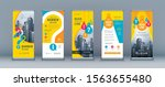 business roll up set. standee... | Shutterstock .eps vector #1563655480
