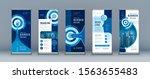 business roll up set. standee... | Shutterstock .eps vector #1563655483