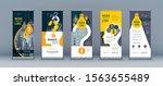 business roll up set. standee...   Shutterstock .eps vector #1563655489
