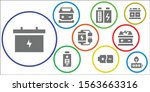 source icon set. 9 filled... | Shutterstock .eps vector #1563663316