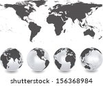 abstract globes with abstract... | Shutterstock .eps vector #156368984