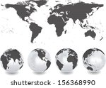 abstract globes with abstract... | Shutterstock .eps vector #156368990