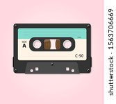 vector illustration of cassette ... | Shutterstock .eps vector #1563706669