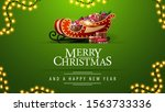 merry christmas and a happy new ... | Shutterstock .eps vector #1563733336