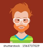 avatar face with hair and... | Shutterstock .eps vector #1563737029