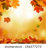 autumn leaves  | Shutterstock . vector #156377273
