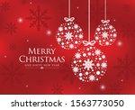 White Christmas Balls With...