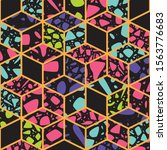 terrazzo seamless pattern... | Shutterstock .eps vector #1563776683