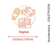 engines red concept icon. power ... | Shutterstock .eps vector #1563791056