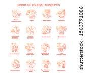 robotics courses red concept... | Shutterstock .eps vector #1563791086