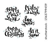 Vector Set Winter Isolated Han...