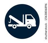 crane truck service isolated... | Shutterstock .eps vector #1563806896
