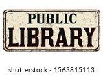 Public Library Vintage Rusty...