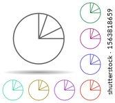 pie chart line multi color icon....