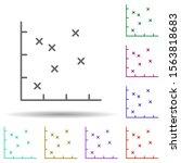 stock chart line multi color...