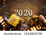 happy new year 2020 background... | Shutterstock . vector #1563834730