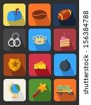 flat icons set 15 | Shutterstock .eps vector #156384788