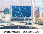 financial market graph hologram ... | Shutterstock . vector #1563848620