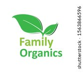 leaf logo icon symbol family... | Shutterstock .eps vector #1563866596