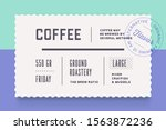 vintage minimal label. set of... | Shutterstock . vector #1563872236