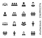 business people icons   grey... | Shutterstock .eps vector #1563901576