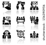 businessman vector icons set.... | Shutterstock .eps vector #156390956